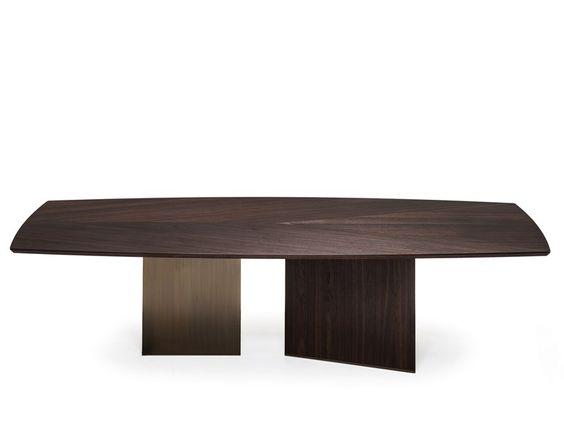 Wooden dining table EPSILON by Arketipo design Studio Memo