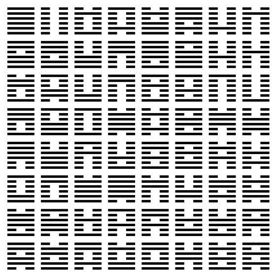Los 64 hexagramas del I Ching