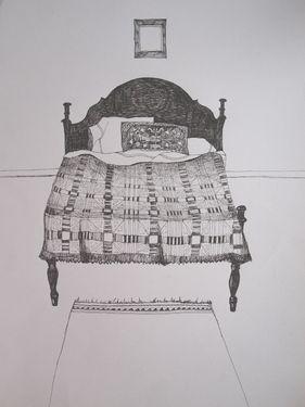 "Saatchi Art Artist Lina Lindqvist; Drawing, ""Private Residence Great Falls, Montana"" #art"