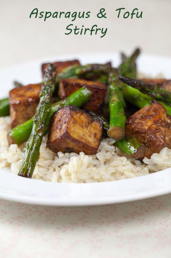 Tofu, Asparagus and Tofu stir fry on Pinterest