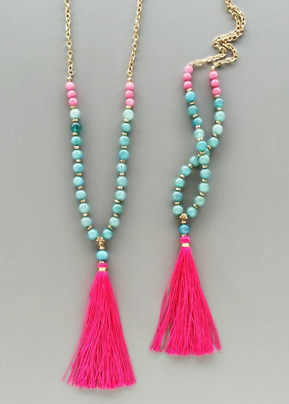 Minya Beaded Necklace – Pree Brulee