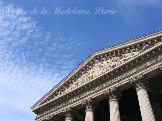 マドレーヌ寺院の正面はアンリルメール作の最後の審判の彫刻が施されている  #monulment#Paris #フランス #パリ #空 #パリの風景 #パリの空#ciel  #France  #Madeleine