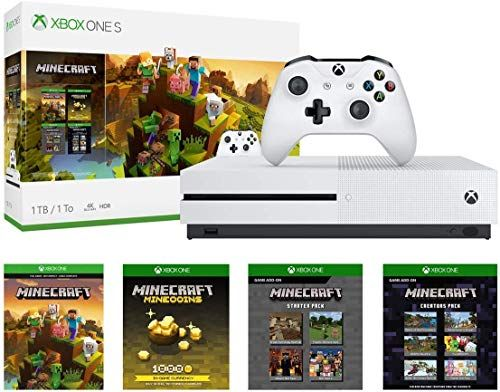 Xbox One S 1tb Console Minecraft Creators Bundle 1tb Xbox One S Console Wireless Controller Full Game Download Of Minec Xbox One S 1tb Xbox One S Xbox One
