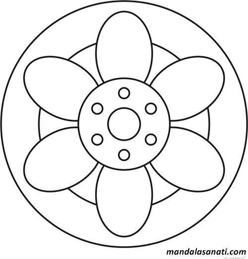 Okul Oncesi Mandala Boyama Sayili Motifler Mandala Boyama Sayfalari Mandala Desenler