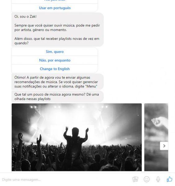 Empresa brasileira é a primeira a desenvolver robô musical para o Messenger