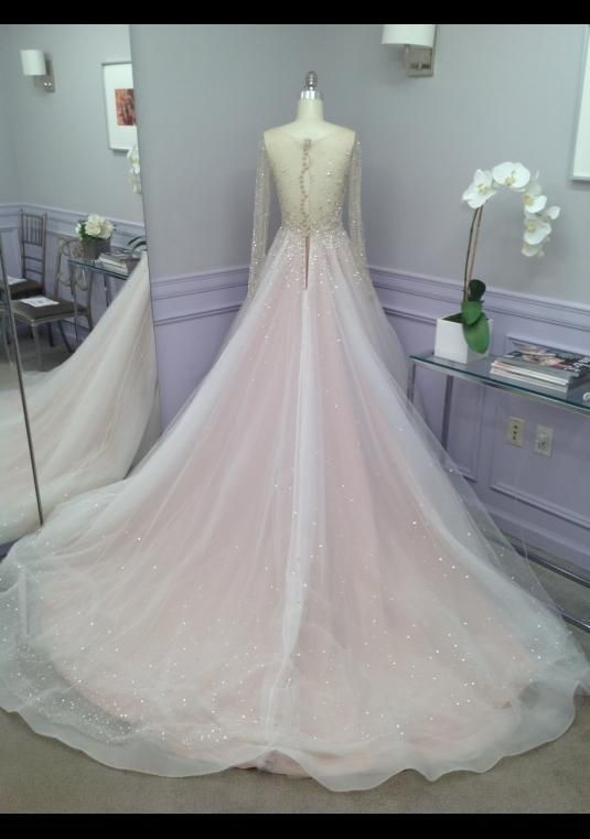 Dennis Basso Beaded Ball Gown Size 8 Bridal Gown Bravobride