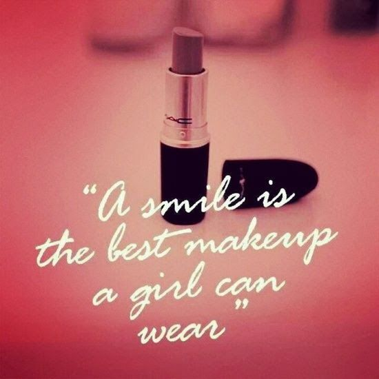 Girlfriend Makeup Quotes : A smile is the best makeup girl can wear inspirational