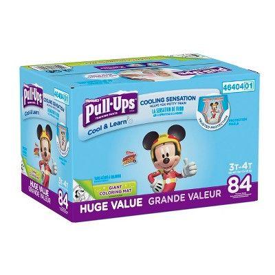 Huggies Pull Ups Boys Cool Learn Training Pants 3t 4t 84ct