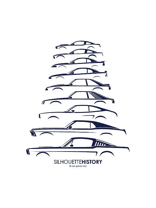 Silhouette history Ford Mustang tattoo. I think this will ...