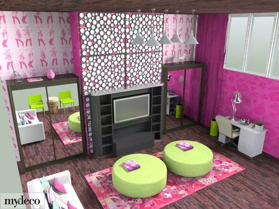 Cool teen rooms teen rooms and room ideas for girls on for Cool girl bedroom ideas teenagers