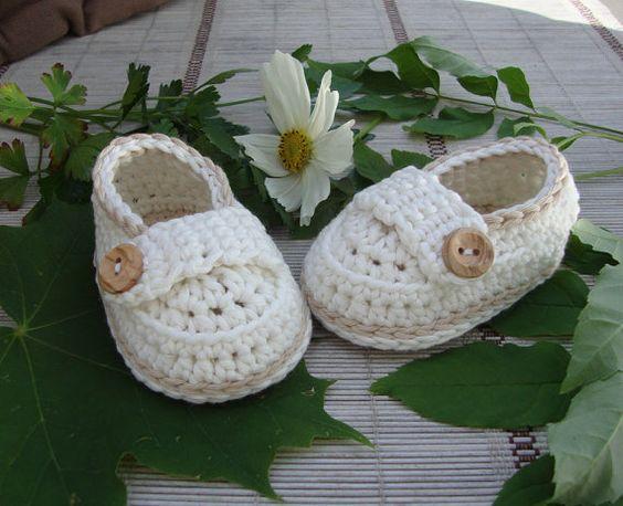 Botitas de bebé zapatos poco mocasines crema y por Ohprettypretty