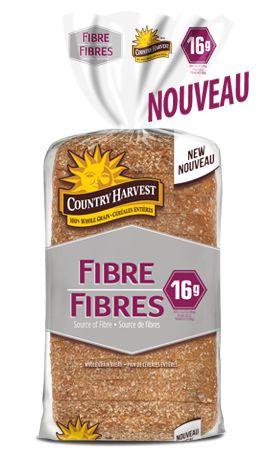 Vous aimerez le regain d'énergie que procure le pain Country Harvest ® Fibres; une façon simple et facile de vous énergiser. Et comme tous les autres pains