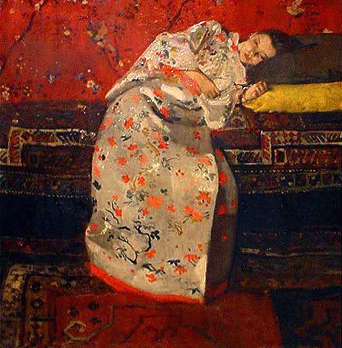 George Hendrik Breitner - Girl in a Red Kimono, 1894.
