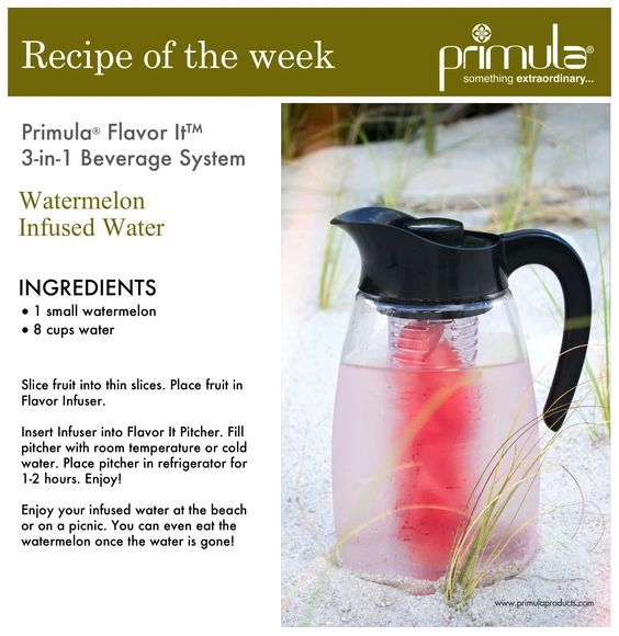 Can't let #summer go? You can still enjoy refreshing #Watermelon #InfusedWater…