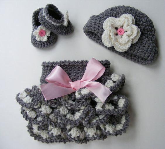 Häkeln Muster gekräuselte Diaper Cover Muster Schuh Muster Bootie Muster häkeln Hut Muster Ebook 2