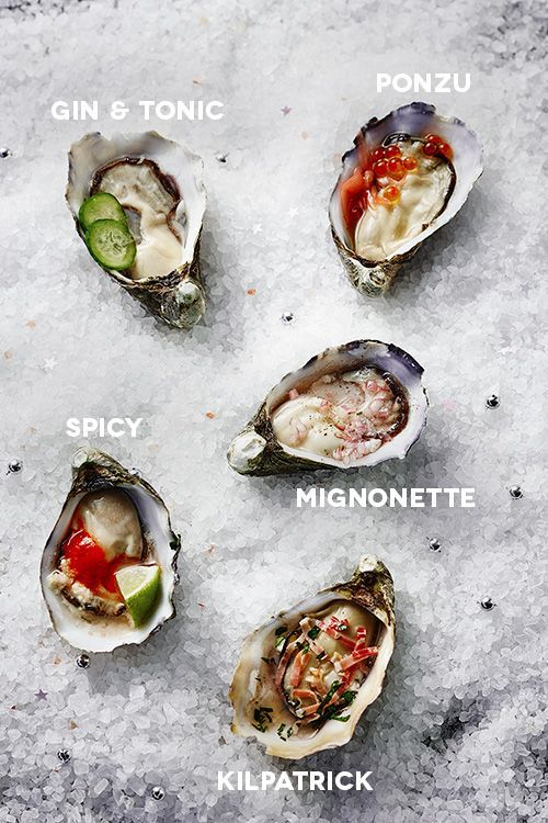 5 different oyster toppings to try this summer, thanks to Jono Fleming - Temple & Webster Journal.   Classic mignonette and kilpatrick recipes, plus Asian flavours in Ponzu and Spicy versions, and a grown up Gin & Tonic.   Create your own oyster bar!