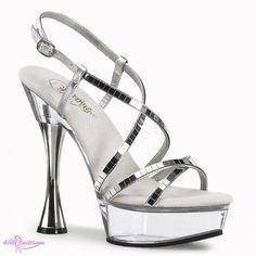 Bildergebnis für high heels silber lack
