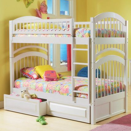 Colorful interior decoration with double deck bunk beds for Double deck bed images