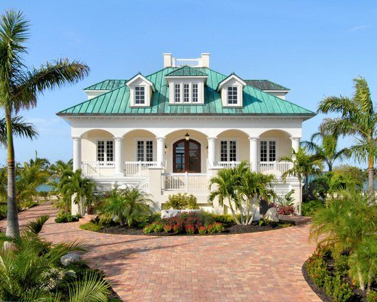 Tropical Style 17 Stunning Exterior Design Ideas Part 1 In 2020 Key West Style Beach Cottage Style Mediterranean Homes