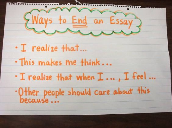 Ways to end a essay