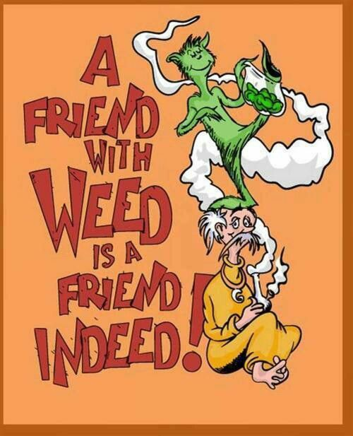 Dr. Seuss Funny Weed Refrigerator Tool Box Magnet | Weed, Get High ...