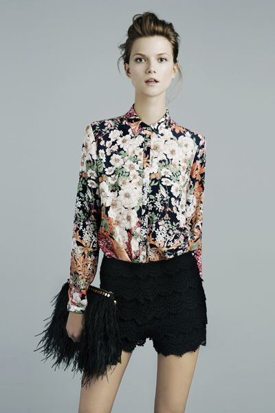 A floral shirt will do...this one's by Zara