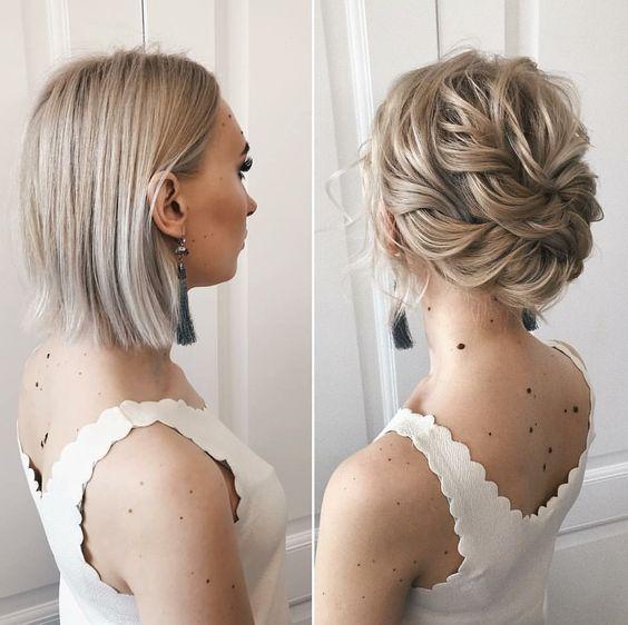 Peinado Para Cabello Corto Trenza Pequena Lateral Peinados Poco Cabello Trenzas Para Cabello Corto Peinados Cabello Corto