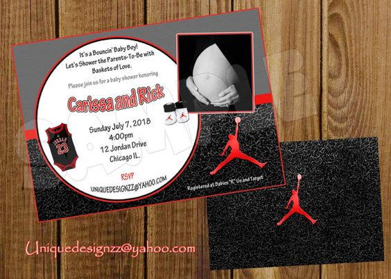 baby shower invitations basketball baby baby showers michael jordan