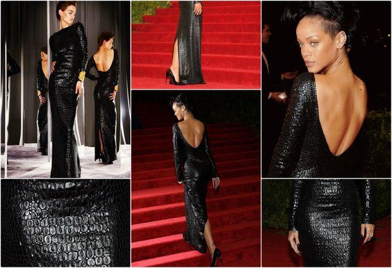 Rihanna Wears TOM FORD Autumn/Winter 2012 to Met Costume Institute Gala #tomford #rihanna