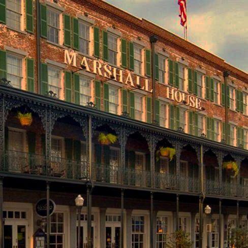 The Marshall House Is One Of Most Haunted Hotels In U S Savannah Inns And B Bs Pinterest Chats Georgia