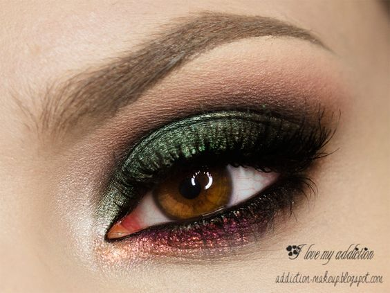poison green by ilovemyaddiction Products Used: Makeup Geek's Corrupt, Envy, Mango Tango, Inglot 137, Femme Fatale Nightlash, Makeup Geek's Shimma Shimma Alternative Products: Makeup Geek's Shimmermint, Makeup Geek Pigment in Enchanted and Birthday Wish