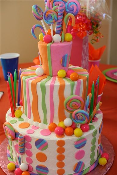 Candy Theme Party Cake