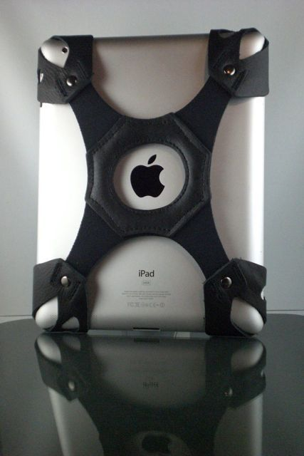 The X-Band 2 by TKO Solutions is a hand strap for the iPad with a touch of biker chic.