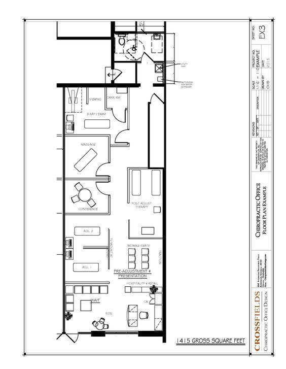 Chiropractic floor plan semi open adjusting and therapy in - Semi open floor plan ...
