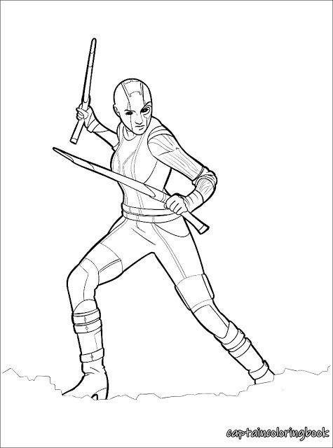 Nebula Avengers Coloring Pages Avengers Coloring Superhero Coloring Pages