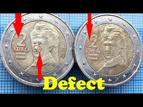 2 Euro Austria Defect Rare 2 Euro Osterreich Defekt Youtube Con