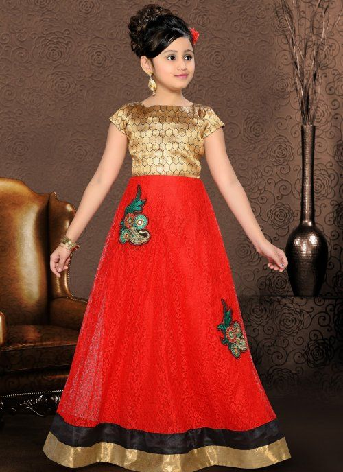 dazzling diva gold color red kids girls wear kids