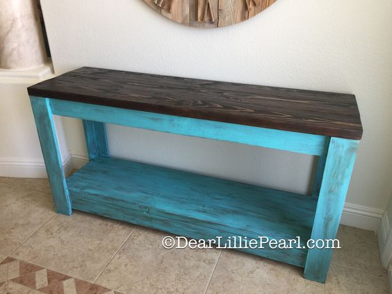 Turquoise Console!!  Loving the color!