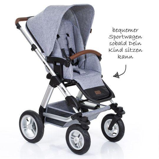 Abc Design Kombi Kinderwagen Viper 4 Mit Luftradern Inkl Babywanne Sportsitz Und Xxl Zubehorset Graphite Grey Kollektion 2019 Baby Strollers Children Design
