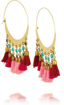 Isabel Marant Gold-plated beaded hoop earrings