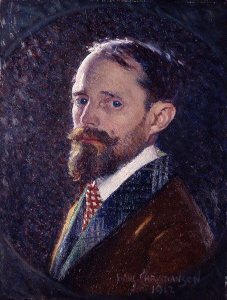 Hans Christiansen: Selbstbildnis, 1912