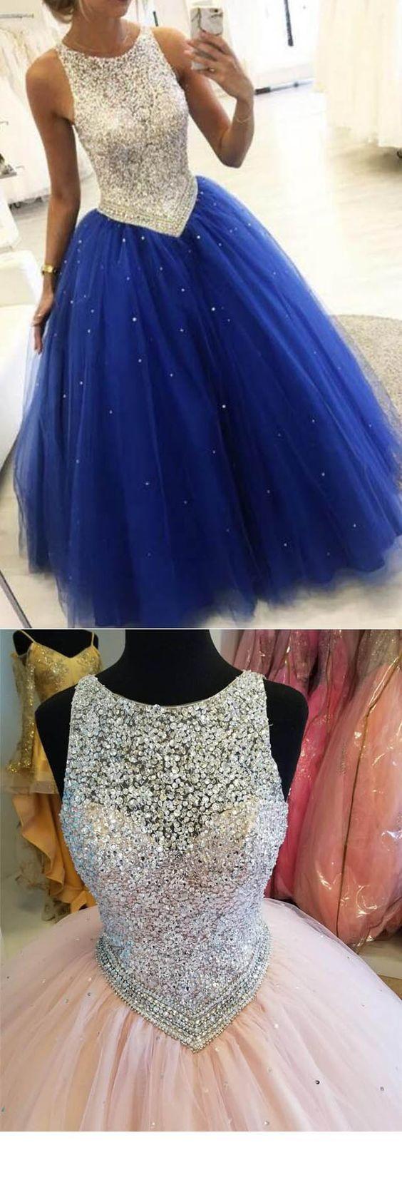 Royal Blue Beaded Ball Gown Girls Sweet 16 Prom Party Dresses P2686 Ball Gowns Prom Cute Prom Dresses Cheap Sweet 16 Dresses [ 1654 x 564 Pixel ]
