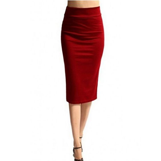 Wholesale Simple High-Waisted Solid Color Bodycon Women's Skirt Only $4.99 Drop Shipping | TrendsGal.com