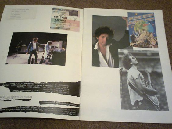 Bob Dylan - Original Ticket & Programme from the 1984 Wembley Stadium, Lond Show