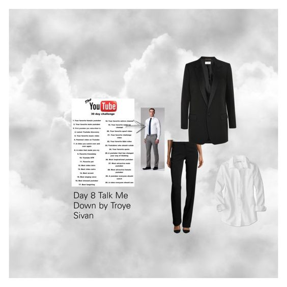 """Day 8 Talk Me Down by Troye Sivan"" by justafangirl4ever ❤ liked on Polyvore featuring art"
