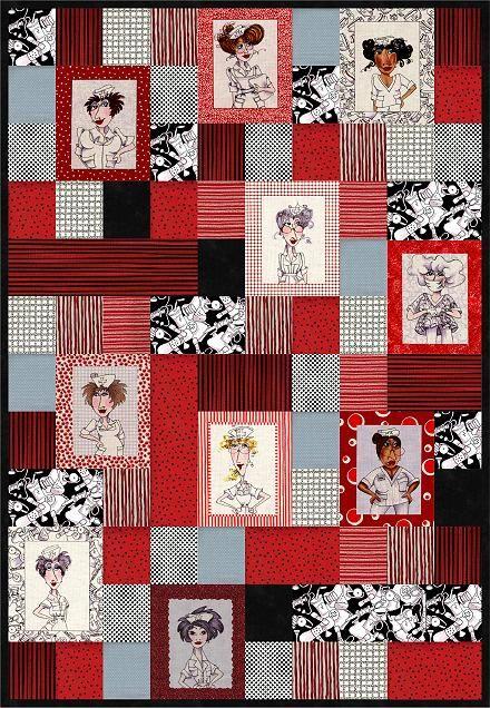 Nifty Nurses Quilt Pattern Patterns Quilt Ideas Pinterest Gardens Patterns And