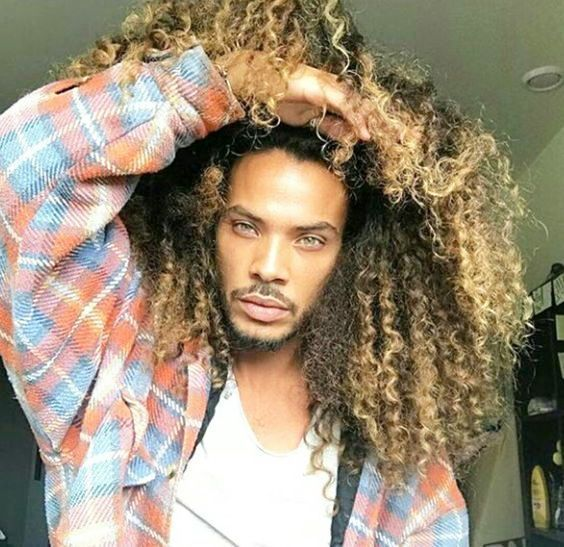 Fashionable Curly Hairstyles For Black Male New Natural Hairstyles Long Curly Hair Men Super Curly Hair Long Hair Styles Men