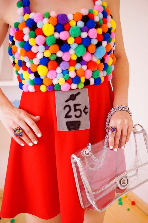 Homemade Gumball Machine costume -- Step by step tutorial on blog!