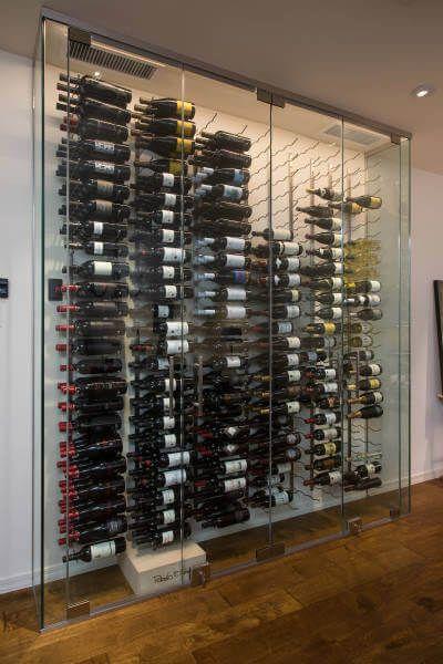 Custom Glass Enclosed Wine Cellar Design Gallery In 2020 Wijn