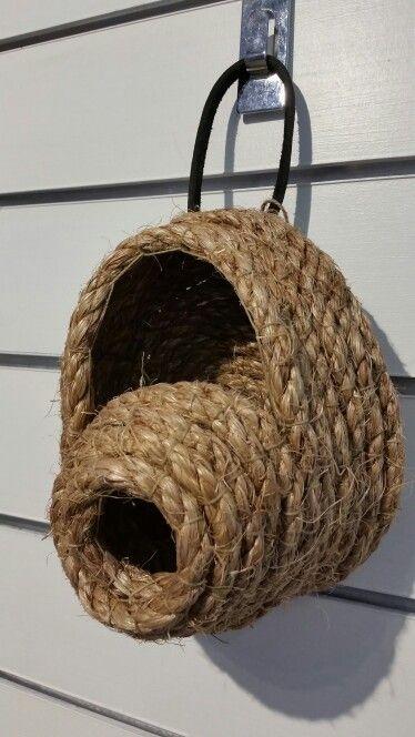Rope bird house